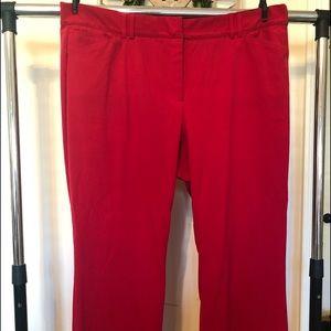 Lane Bryant Red Dress Pants Sz 24